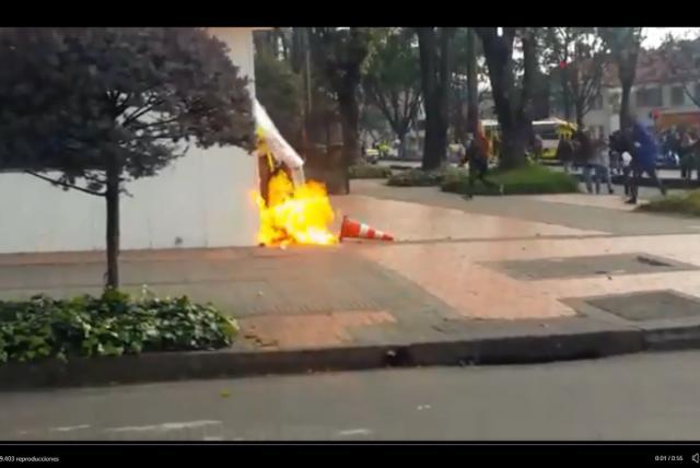 Vandalismo, Rcn Radio, Marchas universitarias, Iván Duque