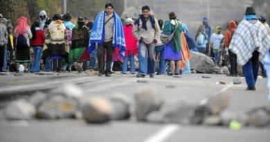 Bloqueos indígenas, minga indígena, bloqueos