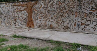 Primer Mural en Inírida con la Técnica Milenaria del Esgrafiado
